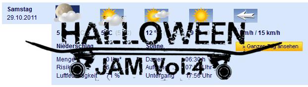 Wetter 29.10.2011