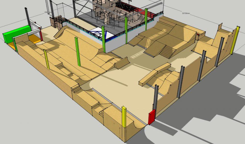 Skatehalle Regensburg 3D