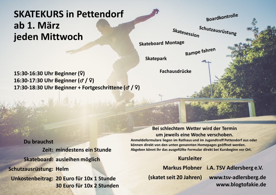 Skatekurs Pettendorf 2017